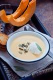 Sopa hecha en casa de la calabaza Imagen de archivo