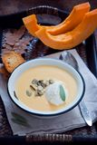 Sopa hecha en casa de la calabaza Foto de archivo libre de regalías