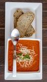 Sopa hecha en casa fresca del tomate Fotografía de archivo libre de regalías