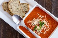 Sopa hecha en casa fresca del tomate Imagen de archivo