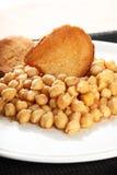 Sopa italiana del garbanzo foto de archivo