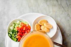 Sopa japonesa de la naranja de la calabaza Fotografía de archivo libre de regalías