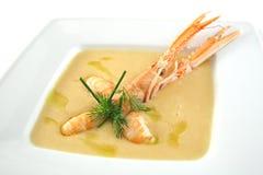 Sopa japonesa dos lagostins Fotografia de Stock Royalty Free