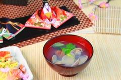 Sopa japonesa dos moluscos Foto de Stock