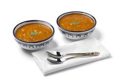 Sopa marroquí del harira Imagenes de archivo