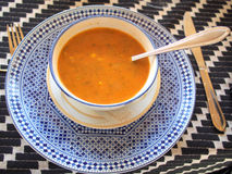 Sopa marroquí del tomate Imagen de archivo libre de regalías
