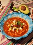Sopa mexicana de la tortilla Fotografía de archivo libre de regalías