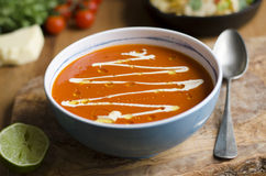 Sopa mexicana do tomate fotografia de stock