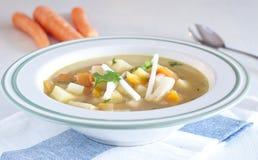 Sopa muito boa do aipo vermelho, das cenouras e das batatas Fotos de Stock