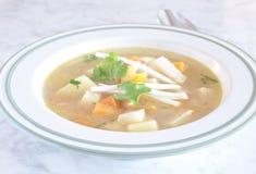 Sopa muito boa do aipo vermelho, das cenouras e das batatas Foto de Stock Royalty Free
