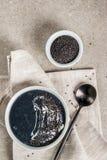 Sopa negra del sésamo Foto de archivo