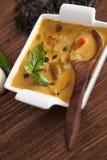 Sopa orgánica del curry de las habas Fotografía de archivo