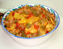 Sopa Perota. A traditional soup from Alora, Andalucia stock image