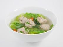 Sopa picadita tailandesa del cerdo Foto de archivo