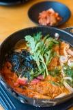 Sopa picante coreana imagens de stock