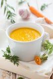 Sopa picante da cenoura Fotografia de Stock