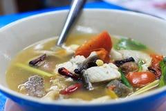 Sopa picante de los pescados Fotos de archivo libres de regalías