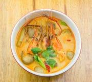 Sopa picante del camarón Imágenes de archivo libres de regalías