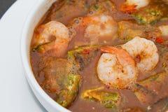 Sopa picante do camarão Imagens de Stock Royalty Free