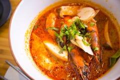 Sopa picante tailandesa del kung del ñame de Tom Fotos de archivo