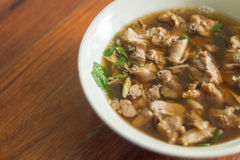 Sopa picante y amarga tailandesa de las entrañas de la carne de vaca Fotos de archivo