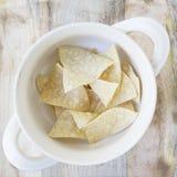 Sopa plana 02 de la tortilla de la endecha Fotografía de archivo