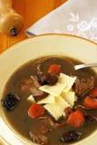 Sopa polaca de la sangre del pato (sopa negra - Czernina) Imagen de archivo