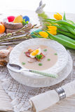Sopa polonesa de Easter com ovo foto de stock royalty free