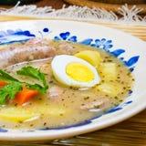 Sopa polonesa de Zurek (sopa do ácido-centeio) Fotografia de Stock