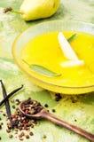 Sopa poner crema de la pera Foto de archivo