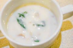 Sopa poner crema del pollo Imagen de archivo libre de regalías