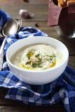 Sopa poner crema deliciosa con apio Fotos de archivo libres de regalías