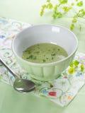 Sopa poner crema vegetal] imagenes de archivo