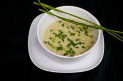 Sopa preparada del pepino Fotografía de archivo