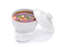 Sopa quente dos peixes fotografia de stock