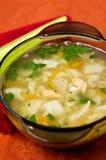 Sopa quente dos peixes imagem de stock