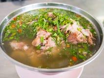 Sopa quente e picante do osso da carne de porco Imagens de Stock Royalty Free