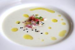 Sopa rica de los mariscos foto de archivo