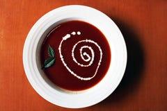 Sopa roja Imágenes de archivo libres de regalías