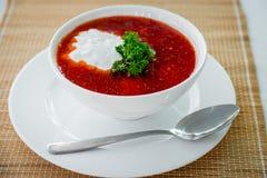 Sopa roja Fotos de archivo libres de regalías