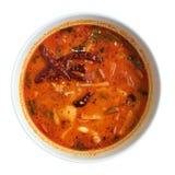 Sopa roja tailandesa del tomyam de los mariscos Fotos de archivo libres de regalías