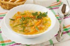 Sopa rusa tradicional de la col imagen de archivo