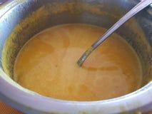 Sopa saboroso da abóbora Foto de Stock Royalty Free