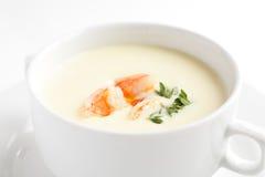 Sopa saboroso no fundo brilhante Imagem de Stock Royalty Free