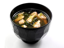 Sopa Salmon japonesa Fotos de Stock Royalty Free