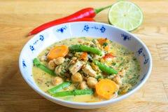 Sopa sana con las verduras y el pollo Fotografía de archivo