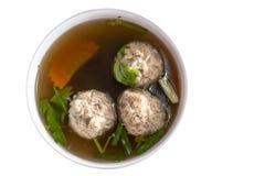 Sopa tailandesa com carne de porco foto de stock royalty free