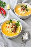 Sopa tailandesa da abóbora Fotografia de Stock
