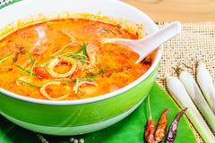 Sopa tailandesa da especiaria de Tom yum foto de stock royalty free