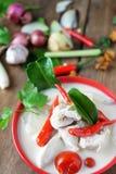Sopa tailandesa de la leche de coco del estilo Fotos de archivo